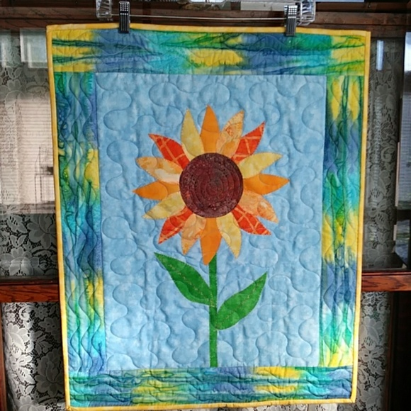 Other - Quilt Wall Hanging Sunflower Yellows Blues